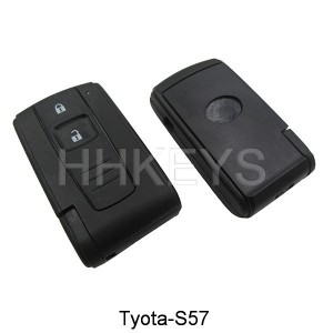 Toyota Crown 2 button smart key remote shell with TOY43 blade