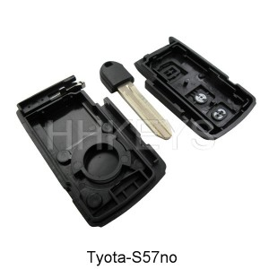 Toyota Crown 2 button smart key remote shell with TOY43 blade with no logo