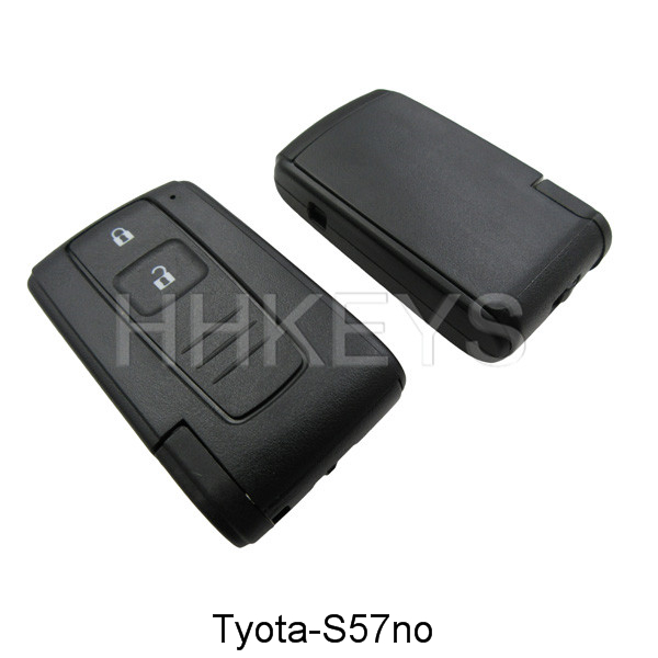 Toyota Crown 2 button smart key remote shell with TOY43 blade with no logo Featured Image