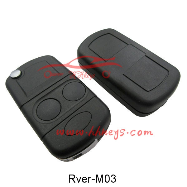 Land Rover 2 Button Modified Flip Key Shell With Right Blade
