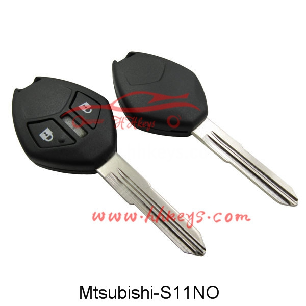 Factory Free sample Folding Car Key Case - Mitsubishi 2 Buttons Remote Key Shell With Right Blade And Button No Logo – Hou Hui