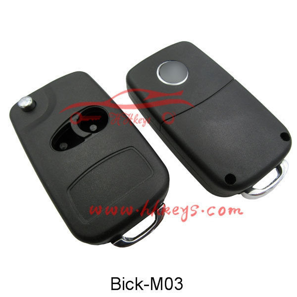 Buick Gl8 2 Button Modified Flip Key Shell  With Left Blade  No Button